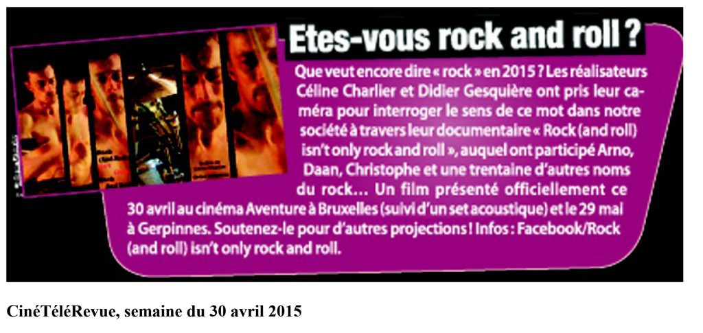 etes vous rock and roll